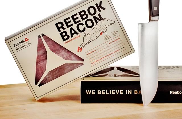 Reebok lance sa propre ligne… de bacon