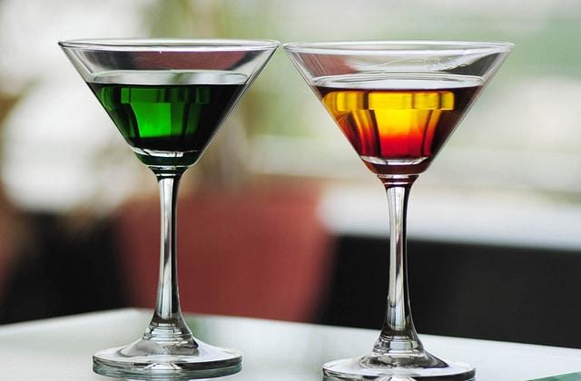 cocktails verre alcool