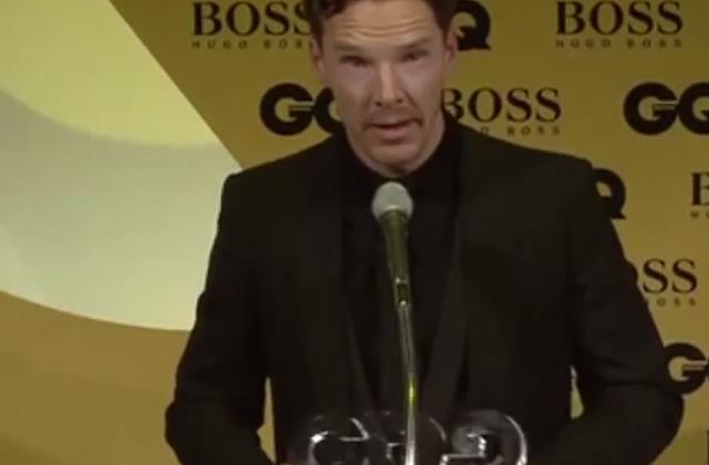 Benedict Cumberbatch fait son discours tout saoul aux GQ Awards