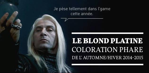 Le blond platine, coloration phare de l'automne/hiver 2014-2015