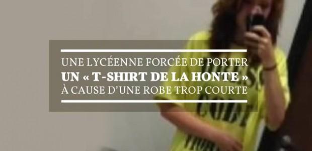 Une lycéenne forcée de porter un «t-shirt de la honte »à cause d'une robe trop courte