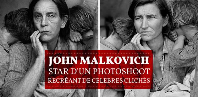 John Malkovich, star d'un photoshoot recréant de célèbres clichés