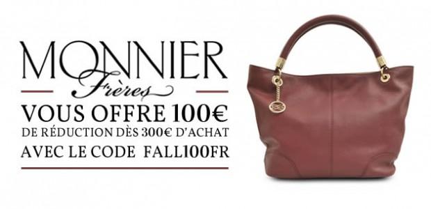 Monnier Frères offre 100€ de réduction sur l'achat d'un sac !