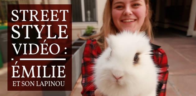 Street Style — Émilie et son lapinou