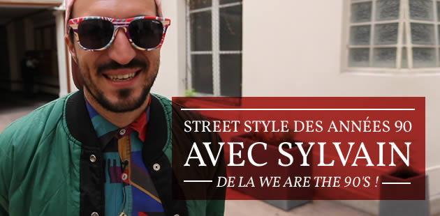 Street Style des années 90 avec Sylvain, de la We Are the 90's !