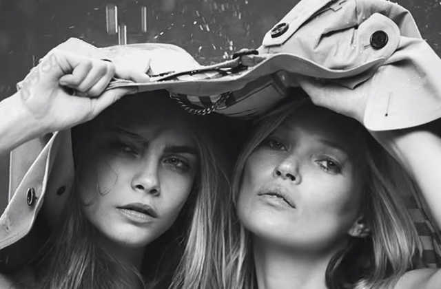 Cara Delevingne et Kate Moss posent ensemble pour Burberry