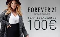 Forever 21 vous fait gagner 5 cartes cadeau de 100€ !