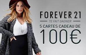 Lien permanent vers Forever 21 vous fait gagner 5 cartes cadeau de 100€ !