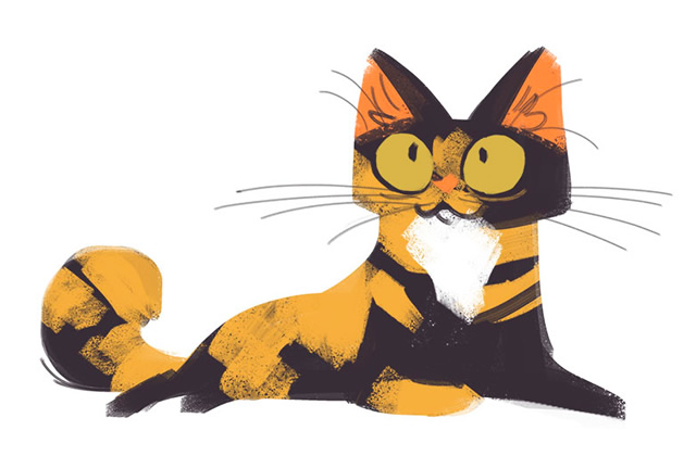Image Of Super Cute Cat Tortoiseshell Animation