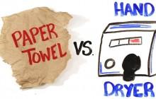 Papier ou séchoir à mains ? La science répond