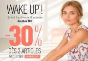 Lien permanent vers Pimkie offre 30% de réduction aux lève-tôt !