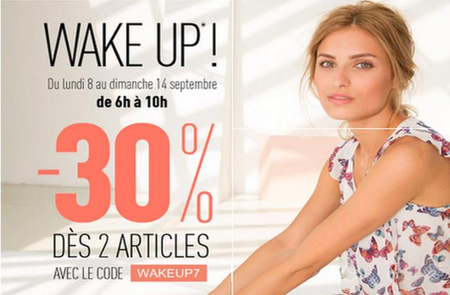 Pimkie offre 30% de réduction aux lève-tôt !
