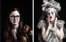 Les artistes de burlesque «avant/après »