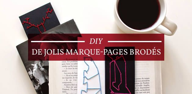 DIY — De jolis marque-pages brodés