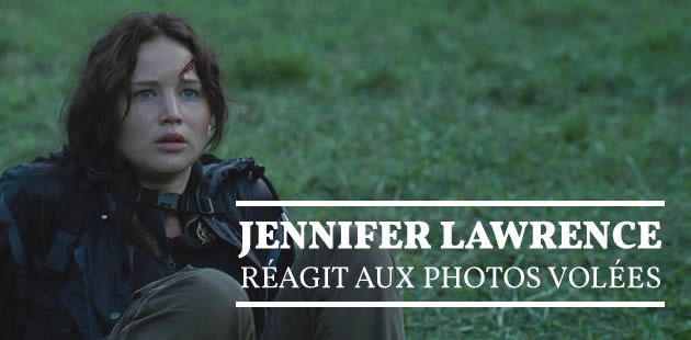 Jennifer Lawrence réagit aux photos volées