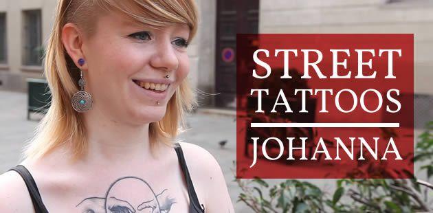 Street Tattoos —Johanna : aquarelle, calavera et pin-up zombie