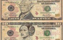 Des billets de banque transformés en personnages de la pop-culture