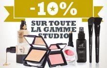 E.L.F. offre 10% de réduction sur sa gamme Studio