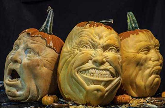 Les citrouilles d'Halloween extrêmement flippantes de Jon Neill