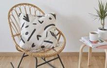 DIY décoration — Le coussin noir et blanc