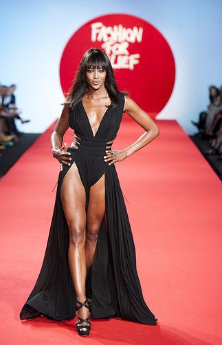Naomi Campbell; Jane Fonda..walks the catwalk in cannes for Fashion for Relief 2011.