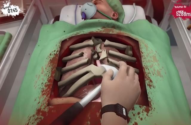 Player Lambda teste une simulation d'opération chirurgicale