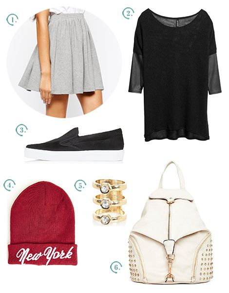 tenue casual jupe patineuse conseils mode comment porter