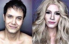 Un internaute se transforme en célébrités grâce au maquillage