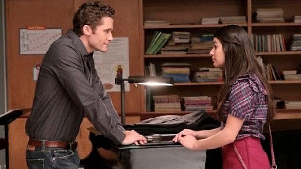 Will, le prof, et Rachel, l'élève, dans «Glee »