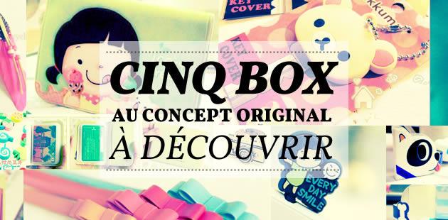 Cinq box au concept original à découvrir