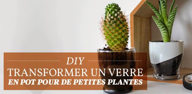 DIY — Transformer un verre en pot pour de petites plantes