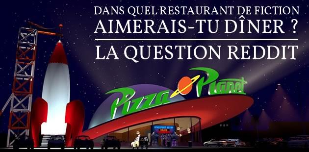 Dans quel restaurant de fiction aimerais-tu dîner ? — La question Reddit