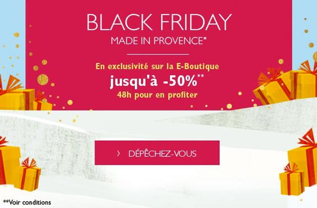L'Occitane t'offre jusqu'à 50% de réduction pour Black Friday !