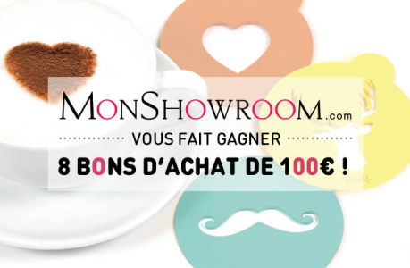MonShowroom te fait gagner 800€ de bons d'achat !