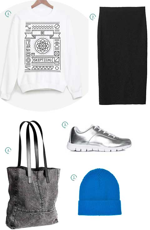 look streetwear jupe mi longue