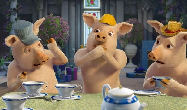 trois petits cochons shrek