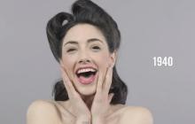 100 Years of Beauty, la vidéo qui réunit les looks beauté phares des 100 dernières années