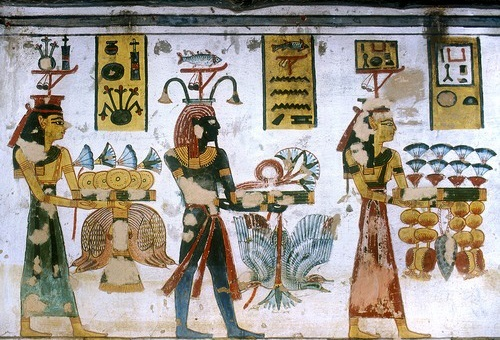 Ramses III offrandes Nil
