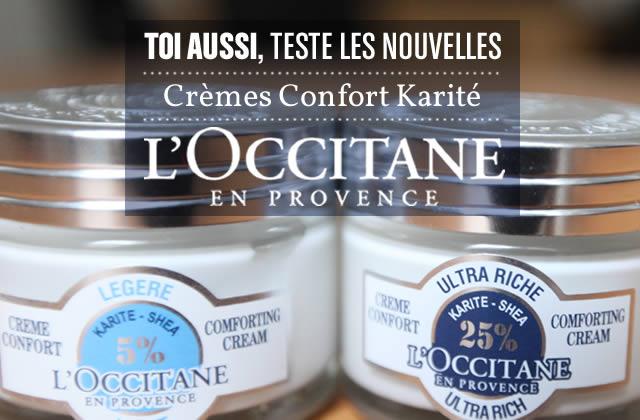 Teste la nouvelle Crème Confort Karité de L'Occitane