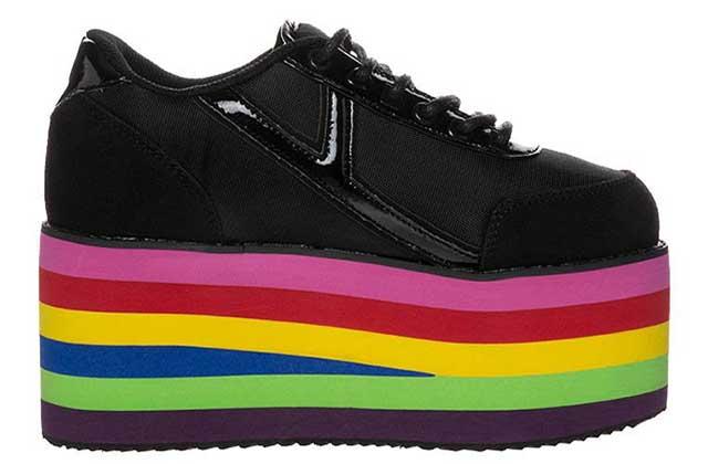 Les baskets à plateformes multicolores de Zalando — WTF Mode