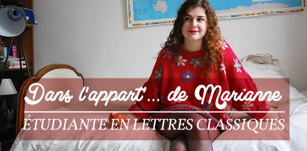 Dans l'appart de… Mariane, étudiante en Lettres Classiques