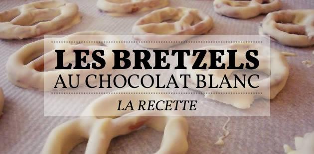 Les bretzels au chocolat blanc – la recette