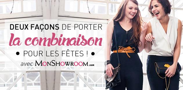 Deux façons de porter la combinaison pour les fêtes avec MonShowroom.com !