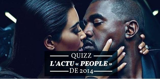 Quiz — L'actu « people » de 2014