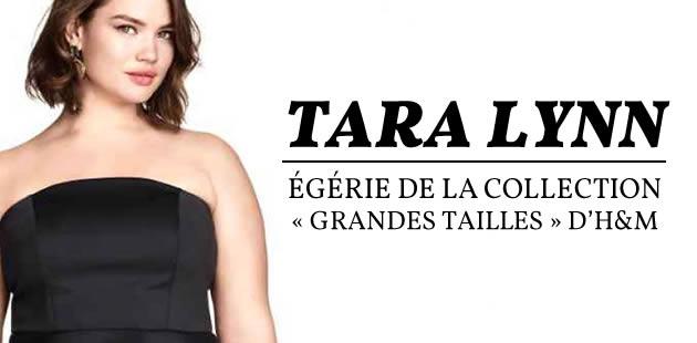 Tara Lynn, égérie de la collection « grandes tailles » d'H&M