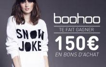 Boohoo vous fait gagner un bon d'achat de 150€ (et vous offre des réductions) !