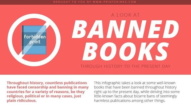 l u0026 39 infographie des livres interdits de nos jours et dans le pass u00e9