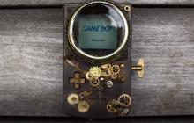 Une Game Boy Color transformée façon steampunk