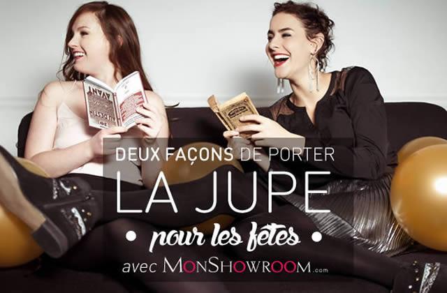 Deux façons de porter la jupe pour les fêtes avec MonShowroom.com !