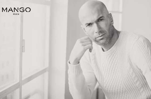 Zinedine Zidane est le nouveau visage de Mango Men !